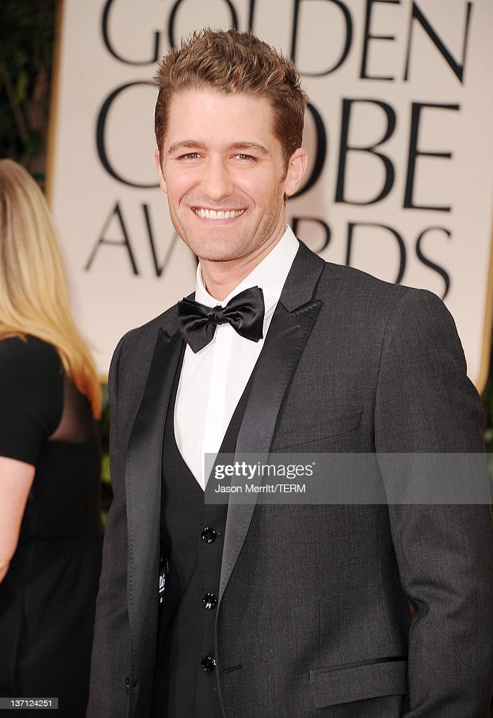 Actor Matthew Morrison arrives at the 69th Annual Golden Globe Awards held at the Beverly Hilton Hotel on January 15 2012 in Beverly Hills California