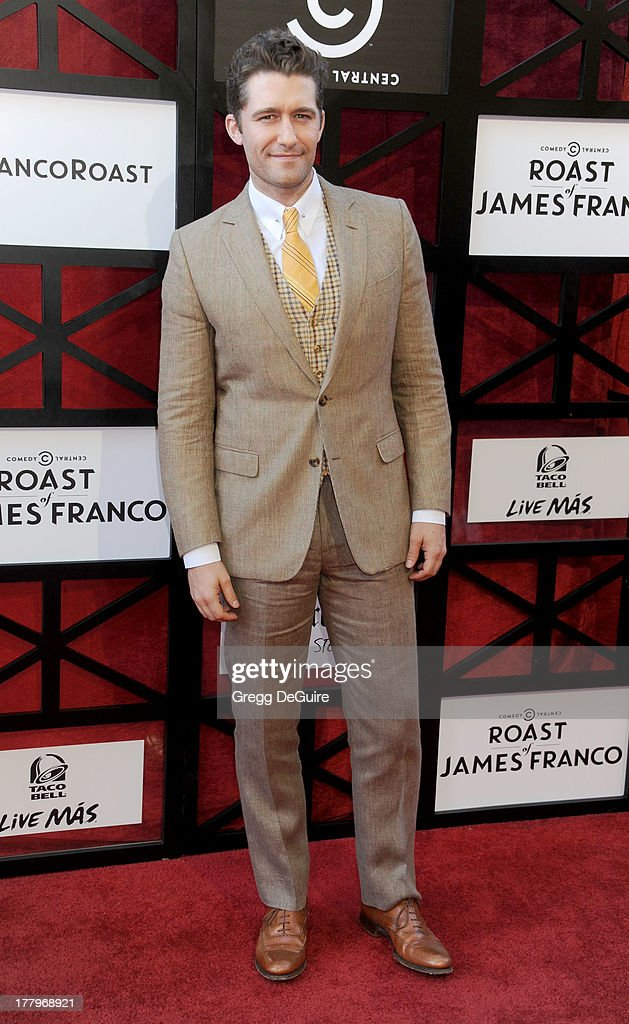 Actor Matthew Morrison arrives at the Comedy Central Roast of James Franco at Culver Studios on August 25, 2013 in Culver City, California.