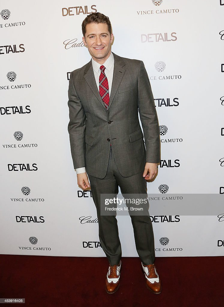 Actor Matthew Morrison attends DETAILS Celebrates The 2013 Hollywood Mavericks at the Soho House on December 5 2013 in West Hollywood California