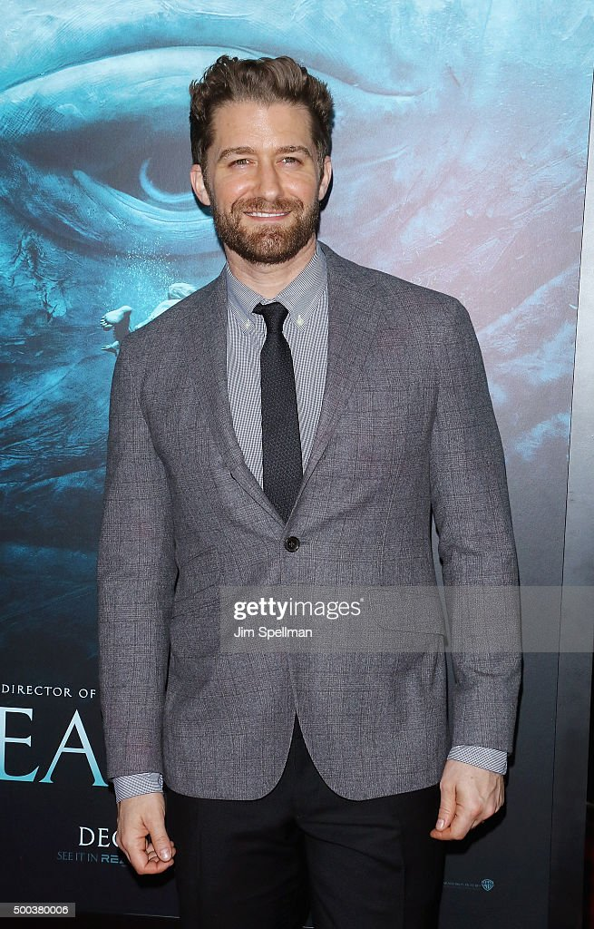 Actor Matthew Morrison attends the 'In The Heart Of The Sea' New York premiere at Frederick P Rose Hall Jazz at Lincoln Center on December 7 2015 in...