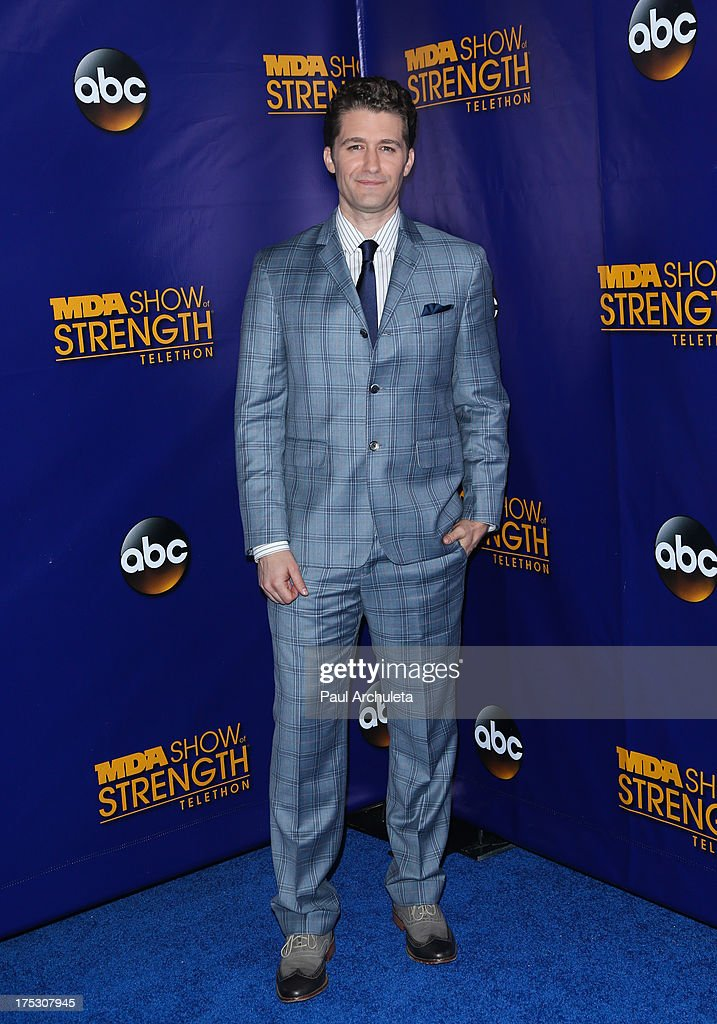 Actor Matthew Morrison attends the Muscular Dystrophy Association's 48th annual MDA Show Of Strength telethon day 2 at CBS Studios on August 1, 2013 in Los Angeles, California.