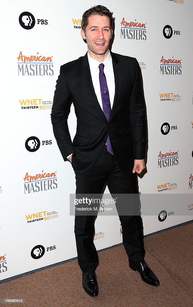 Actor <a gi-track='captionPersonalityLinkClicked' href=/galleries/search?phrase=Matthew+Morrison&family=editorial&specificpeople=171674 ng-click='$event.stopPropagation()'>Matthew Morrison</a> attends the Premiere Of 'American Masters Inventing David Geffen' at The Writers Guild of America on November 13, 2012 in Beverly Hills, California.