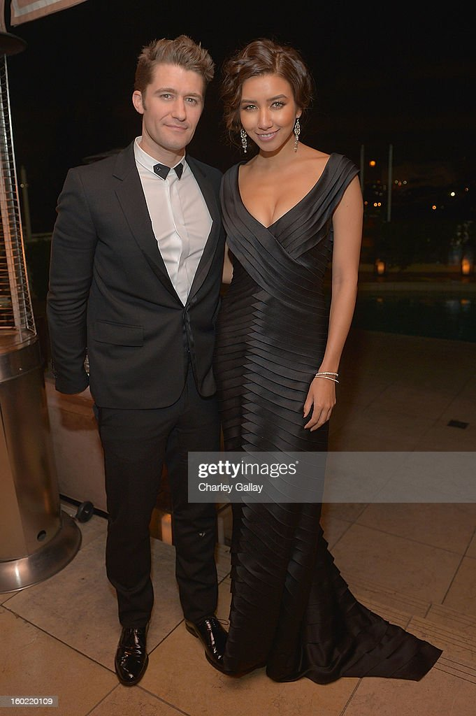 Actor <a gi-track='captionPersonalityLinkClicked' href=/galleries/search?phrase=Matthew+Morrison&family=editorial&specificpeople=171674 ng-click='$event.stopPropagation()'>Matthew Morrison</a> attends The Weinstein Company's SAG Awards After Party Presented By FIJI Water at Sunset Tower on January 27, 2013 in West Hollywood, California.