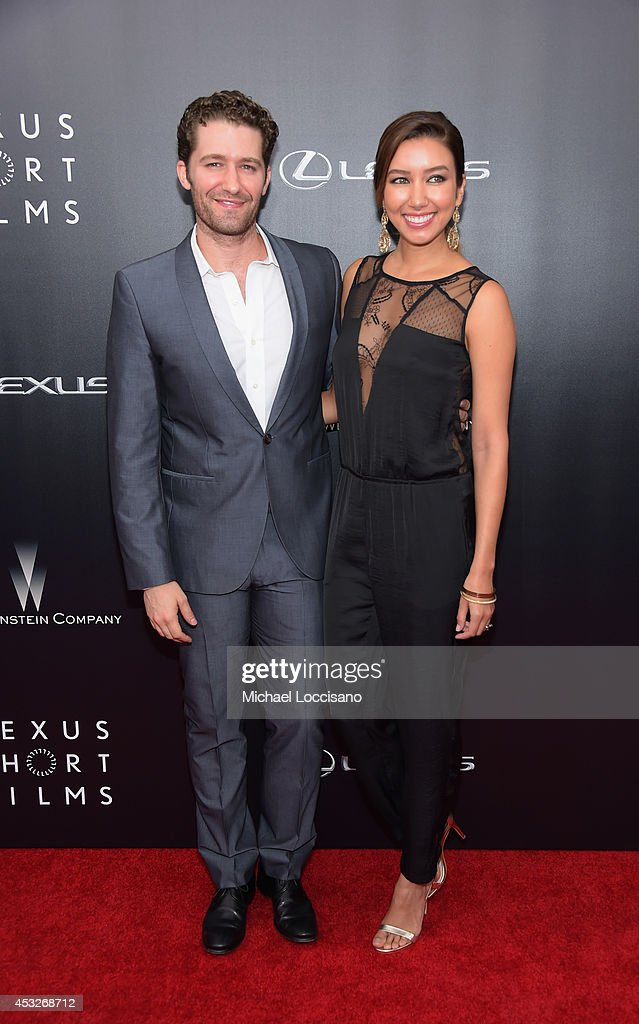 Actor Matthew Morrison of Glee and Renee Puente attend the 2nd Annual Lexus Short Films 'Life is Amazing' New York premiere presented by The...