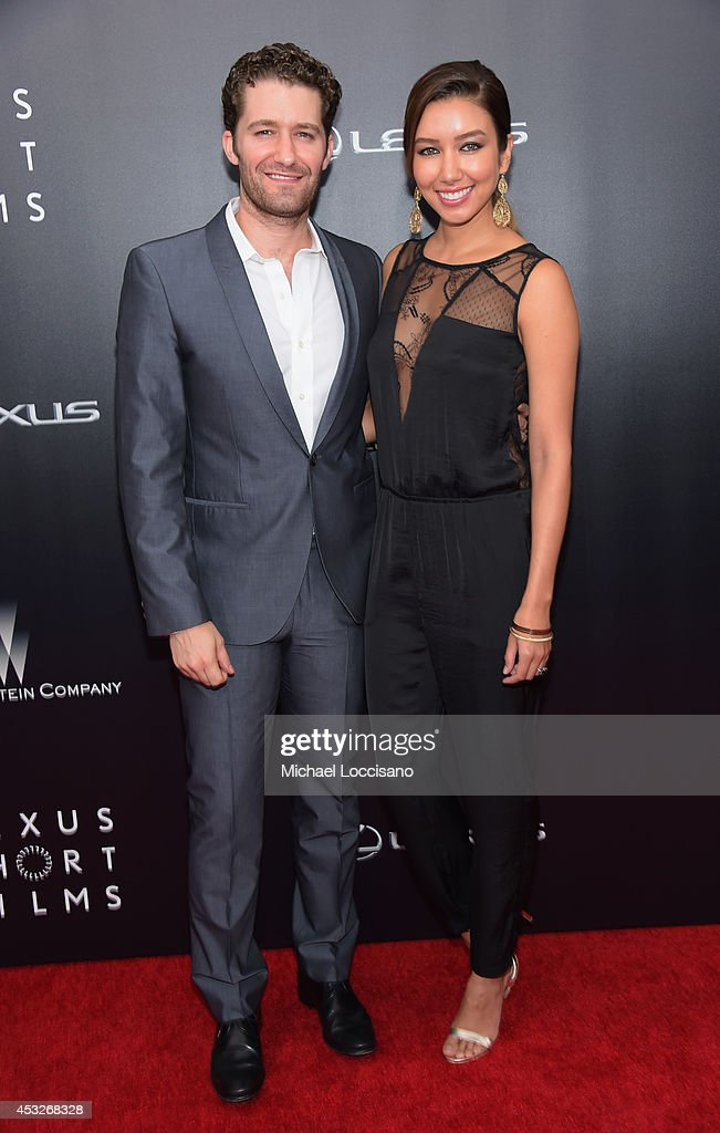 Actor Matthew Morrison of Glee and Renee Puente attend the The 2nd Annual Lexus Short Films 'Life is Amazing' New York premiere presented by The...