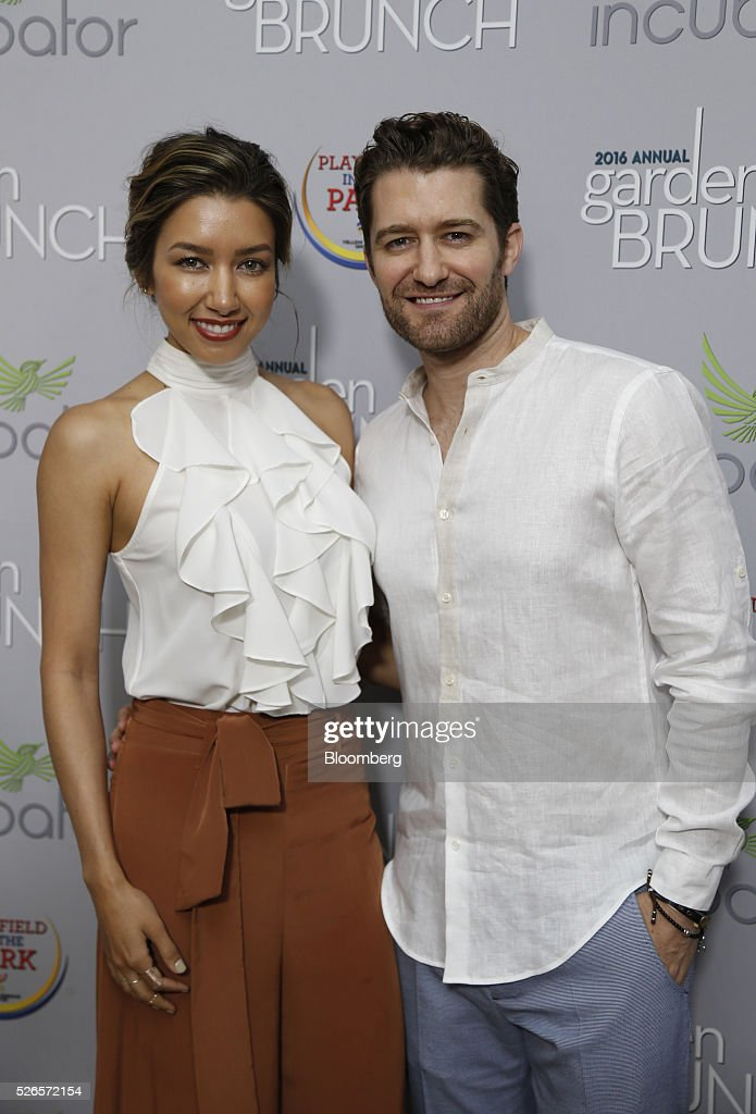 Actor Matthew Morrison, right, and Renee Puente attend the 23rd Annual White House Correspondents' Garden Brunch in Washington, D.C., U.S., on Saturday, April 30, 2016. The event will raise awareness for Halcyon Incubator, an organization that supports early stage social entrepreneurs 'seeking to change the world' through an immersive 18-month fellowship program. Photographer: Andrew Harrer/Bloomberg via Getty Images