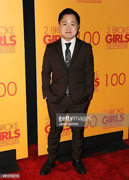 Actor Matthew Moy attends the 100th episode celebration of CBS' '2 Broke Girls' at Mrs Fish on October 3 2015 in Los Angeles California
