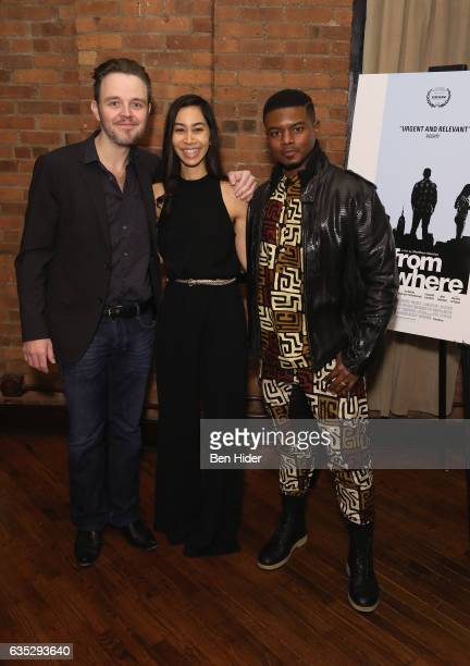 Actor Matthew Newton Actress Octavia ChavezRichmond and Jamal Mallory McCree attend the Special Screening Of FilmRise's 'From Nowhere' at Tribeca...
