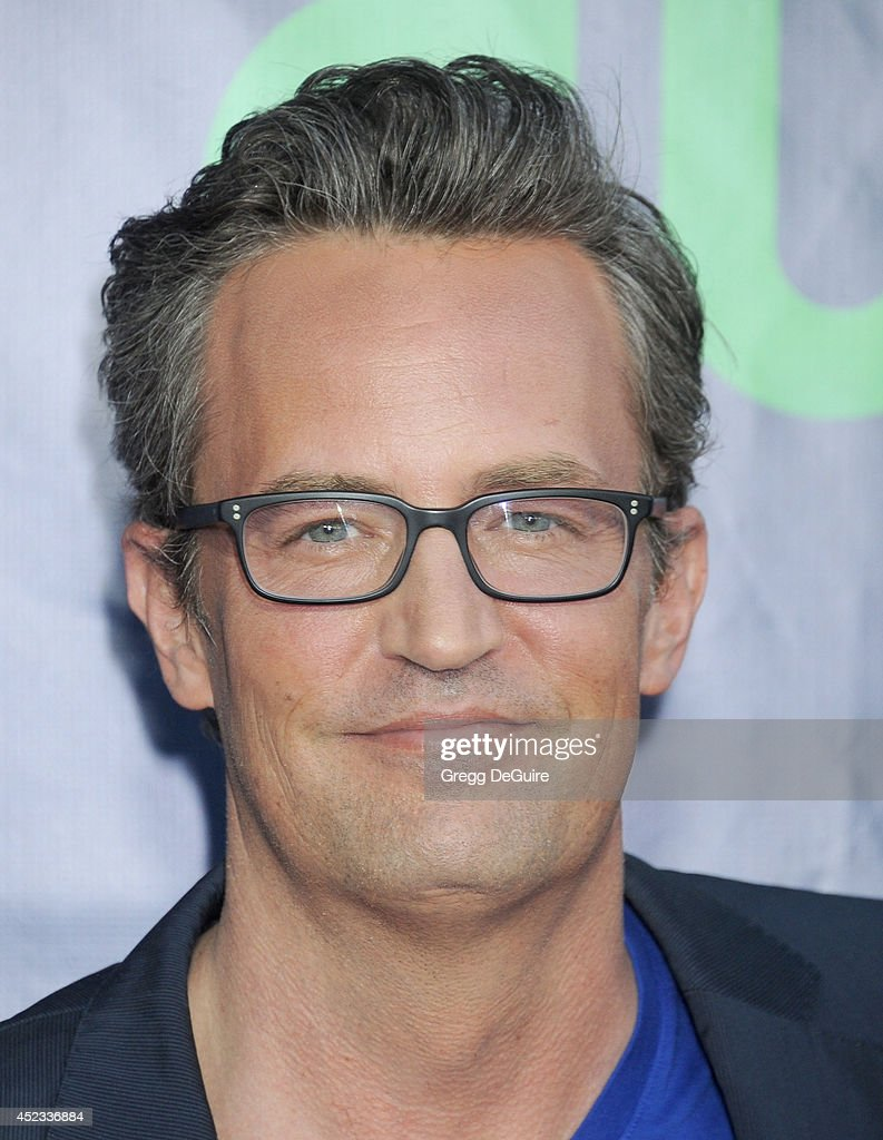 Actor Matthew Perry arrives at the 2014 Television Critics Association Summer Press Tour CBS CW And Showtime Party at Pacific Design Center on July...