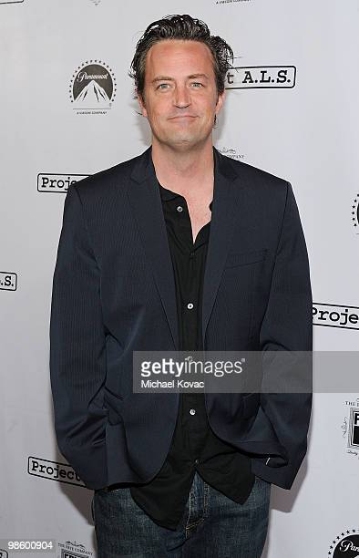 Actor Matthew Perry arrives at the Project ALS LA Benefit hosted by Ben Stiller Friends at Lucky Strike Bowling Alley on April 21 2010 in Hollywood...