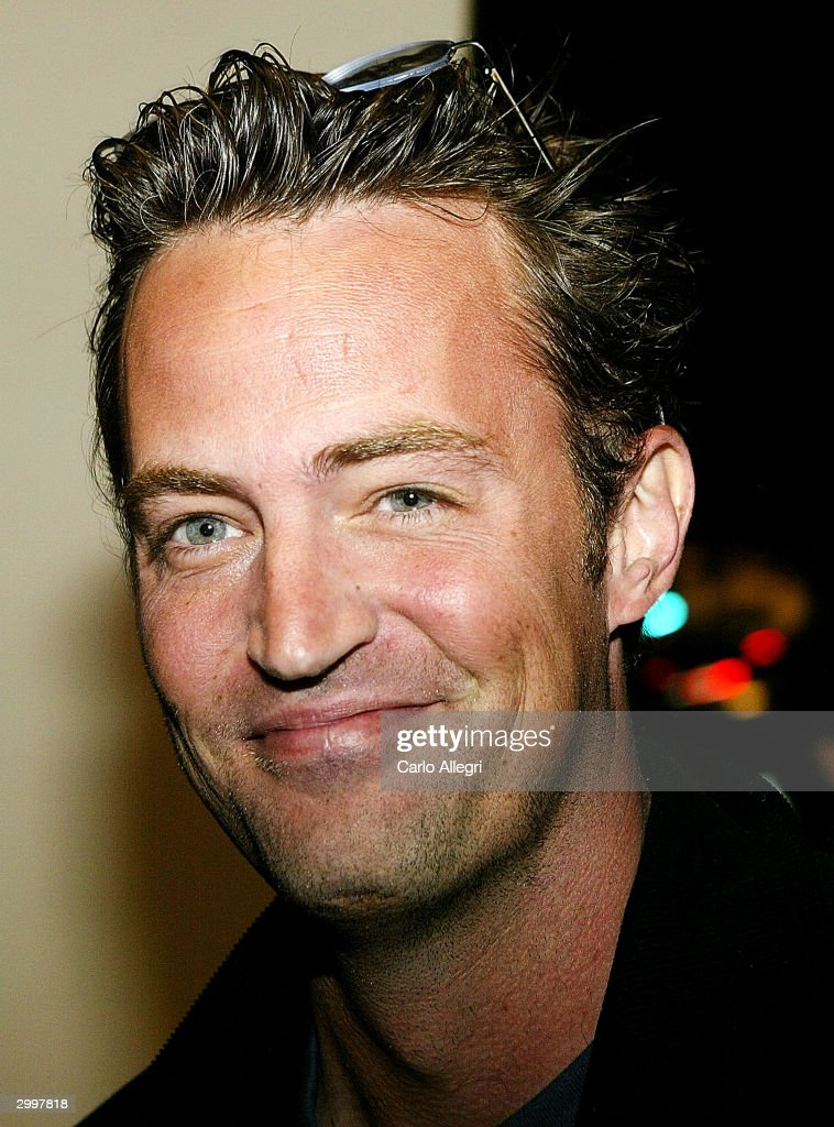 Actor Matthew Perry arrives for a screening of 'Nobody's Perfect' at the Writers Guild February 19, 2004 in Los Angeles, California.