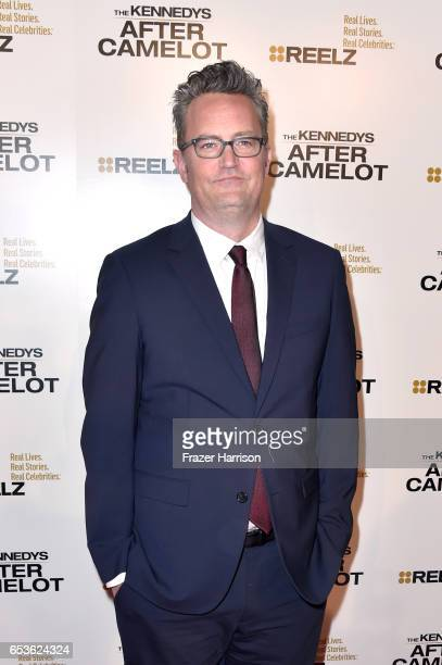 Actor Matthew Perry at the premiere of Reelz's 'The Kennedys After Camelot' at The Paley Center for Media on March 15 2017 in Beverly Hills California