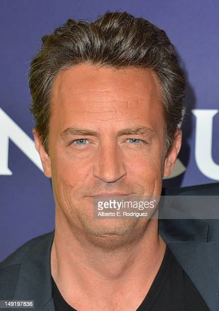 Actor Matthew Perry attends NBC Universal's 2012 Summer TCA Tour at The Beverly Hilton Hotel on July 24 2012 in Beverly Hills California