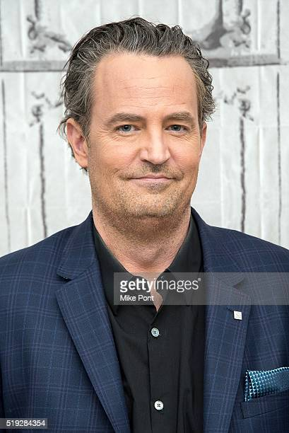 Actor Matthew Perry attends the AOL Build series to discuss 'The Odd Couple' at AOL Studios in New York on April 5 2016 in New York City