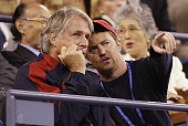 Actor Matthew Perry attends the match between Kim Clijsters and Lindsay Davenport during Day 12 of the US Open Tennis Tournament