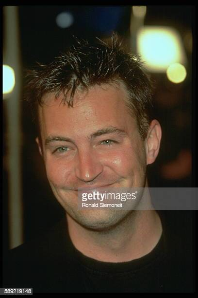 Actor Matthew Perry attends the premier of Andy and Larry Wachowski's film The Matrix