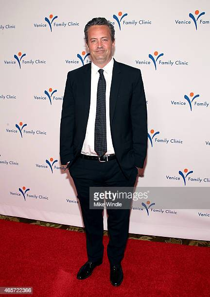 Actor Matthew Perry attends Venice Family Clinic's Silver Circle Gala at Regent Beverly Wilshire Hotel on March 9 2015 in Beverly Hills California