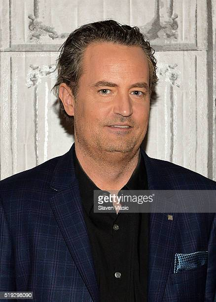 Actor Matthew Perry visits AOL Build to discuss season 2 of his CBS show 'The Odd Couple' at AOL Studios In New York on April 5 2016 in New York City