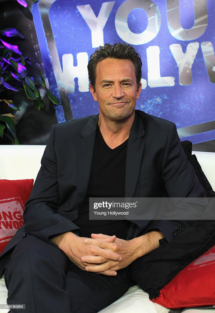 Actor Matthew Perry visits the Young Hollywood Studio on July 24 2012 in Los Angeles California