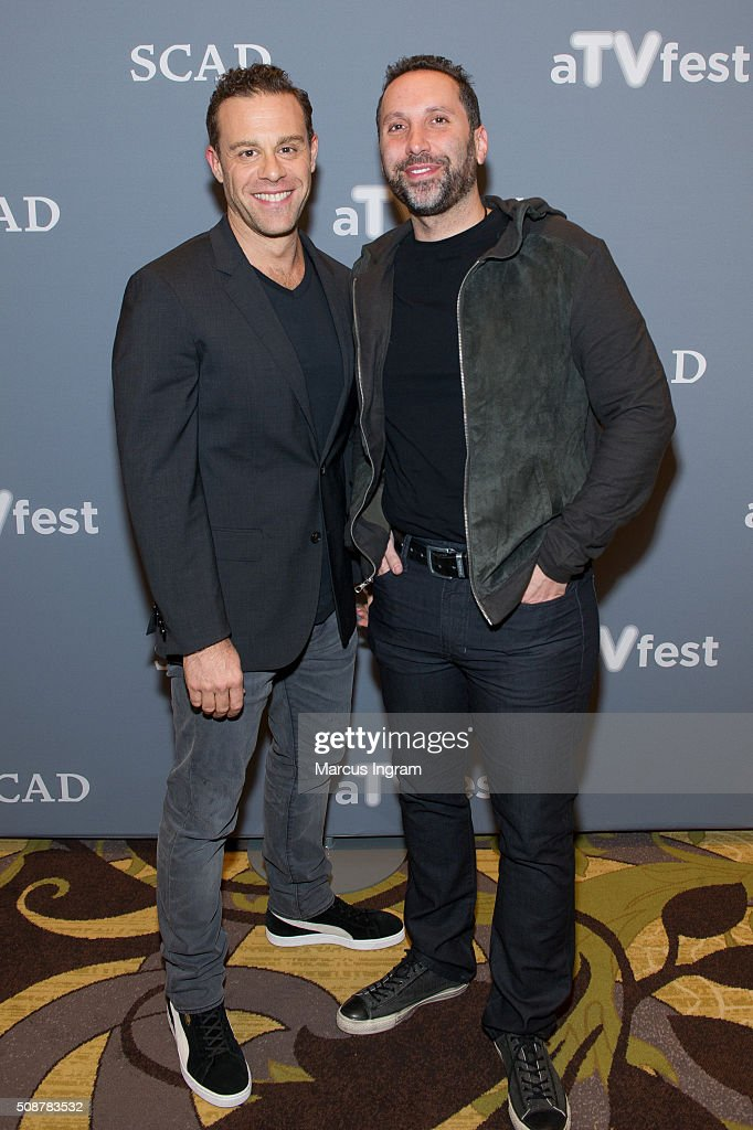 Actor Matthew Rauch and Executive Producer Adam Targum attend 'Banshee' event during SCAD aTVfest 2016 Day 3 at the Four Seasons Atlanta Hotel on February 6, 2016 in Atlanta, Georgia.