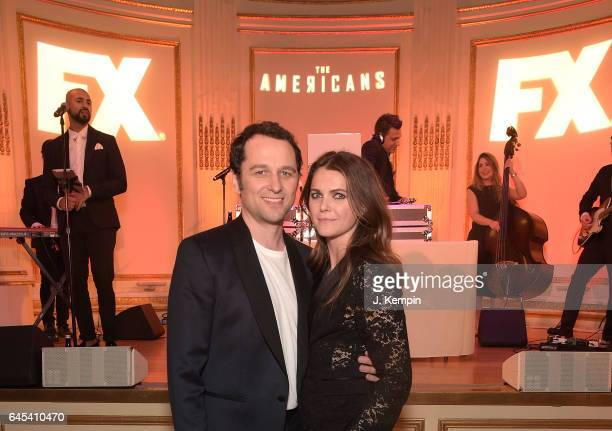 Actor Matthew Rhys and actress Keri Russell attend the after party for 'The Americans' Season 5 Premiere at The Plaza Hotel on February 25 2017 in...