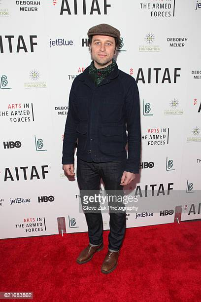 Actor Matthew Rhys attends the 8th Annual Arts in the Armed Forces performance on Broadway at Studio 54 on November 7 2016 in New York City