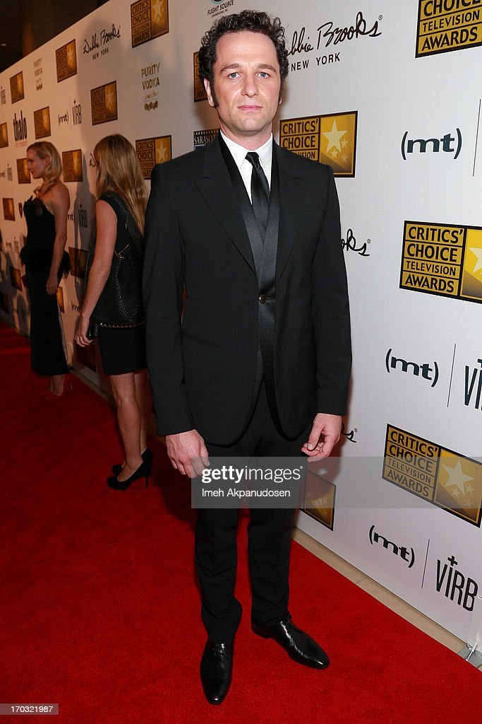 Actor <a gi-track='captionPersonalityLinkClicked' href=/galleries/search?phrase=Matthew+Rhys&family=editorial&specificpeople=733972 ng-click='$event.stopPropagation()'>Matthew Rhys</a> attends the Critics' Choice Television Awards at The Beverly Hilton Hotel on June 10, 2013 in Beverly Hills, California.