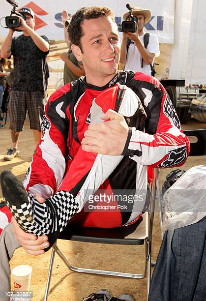 Actor Matthew Rhys attends the Oakley/Suzuki Celebrity Ride Day at Starwest MX Park on June 25 2008 in Perris California