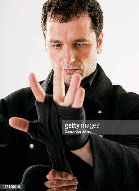 Actor Matthew Rhys is photographed on February 24 2009 in London England