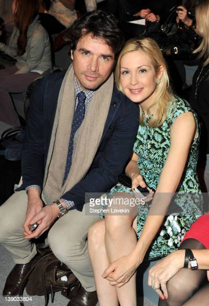 Actor Matthew Settle and actress Kelly Rutherford attend the Nanette Lepore Fall 2012 fashion show during MercedesBenz Fashion Week at The Stage at...