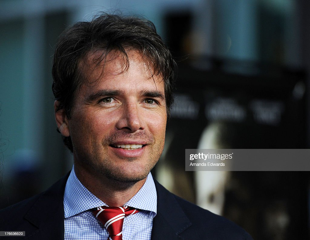 Actor <a gi-track='captionPersonalityLinkClicked' href=/galleries/search?phrase=Matthew+Settle&family=editorial&specificpeople=214670 ng-click='$event.stopPropagation()'>Matthew Settle</a> arrives at the premiere of 'Dark Tourist' at ArcLight Hollywood on August 14, 2013 in Hollywood, California.