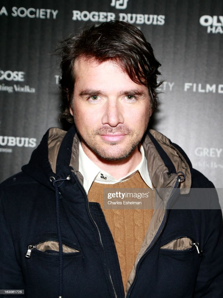 Actor Matthew Settle attends The Cinema Society with Roger Dubuis and Grey Goose screening of FilmDistrict's 'Olympus Has Fallen' at the Tribeca Grand Screening Room on March 11, 2013 in New York City.