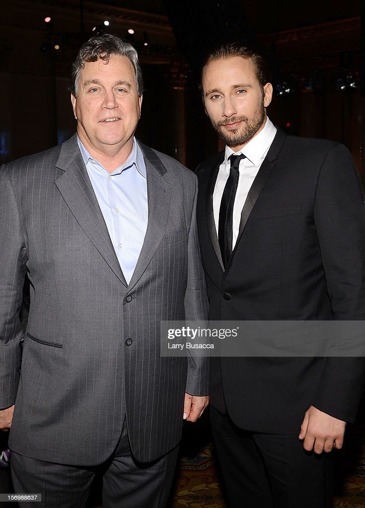 Actor <a gi-track='captionPersonalityLinkClicked' href=/galleries/search?phrase=Matthias+Schoenaerts&family=editorial&specificpeople=6259320 ng-click='$event.stopPropagation()'>Matthias Schoenaerts</a> (R) attends the 22nd Annual Gotham Independent Film Awards at Cipriani Wall Street on November 26, 2012 in New York City.