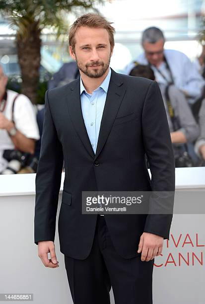 Actor Matthias Schoenaerts attends the 'De Rouille et D'os' Photocall during the 65th Annual Cannes Film Festival at Palais des Festivals on May 17...