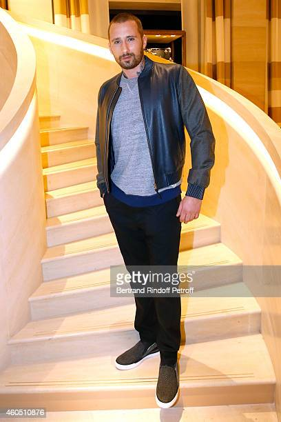Actor Matthias Schoenaerts attends the Louis Vuitton Montaigne Store ReOpening party at Louis Vuitton Avenue Montaigne Store on December 15 2014 in...