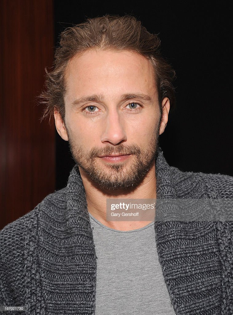 Actor Matthias Schoenaerts attends the 'Rust And Bone' Luncheon at Brasserie Ruhlmann on November 27, 2012 in New York City.