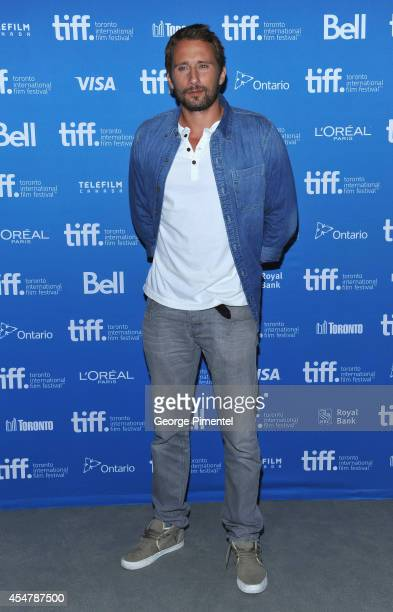 Actor Matthias Schoenaerts of 'The Drop' poses at 'The Drop' Press Conference during the 2014 Toronto International Film Festival at TIFF Bell...