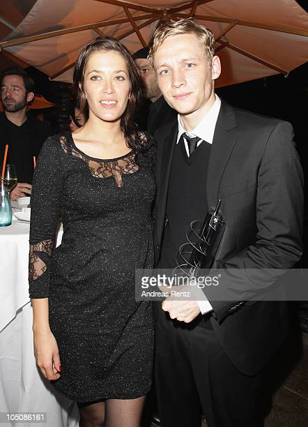 Actor Matthias Schweighoefer and his wife Anni Fromm attend the 'Hesse Movie Award 2010' at the Alte Oper on October 8 2010 in Frankfurt am Main...