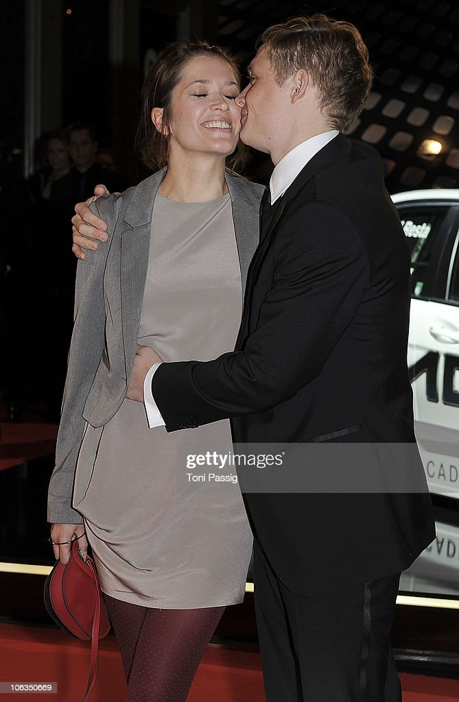 Actor Matthias Schweighoefer and his wife Anni Schromm attend the GQ Men Of The Year 2010 award ceremony at Komische Oper on October 29, 2010 in Berlin, Germany.