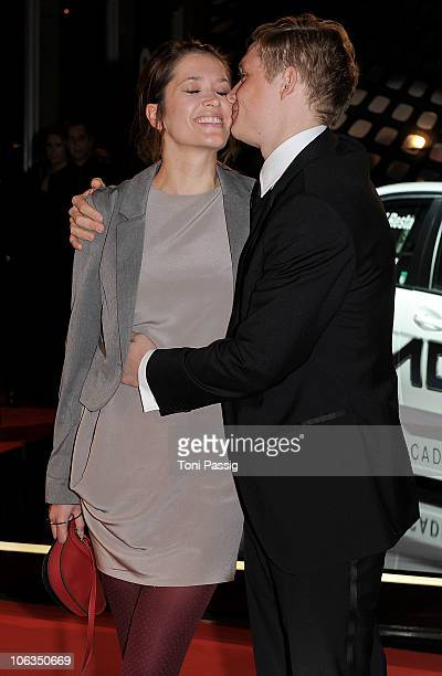 Actor Matthias Schweighoefer and his wife Anni Schromm attend the GQ Men Of The Year 2010 award ceremony at Komische Oper on October 29 2010 in...