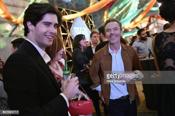 Actor Mattias Inwood and Creator and Executive Producer Craig Pearce attend TNT's Season One 'Will' Premiere After Party at Bryant Park on June 27...