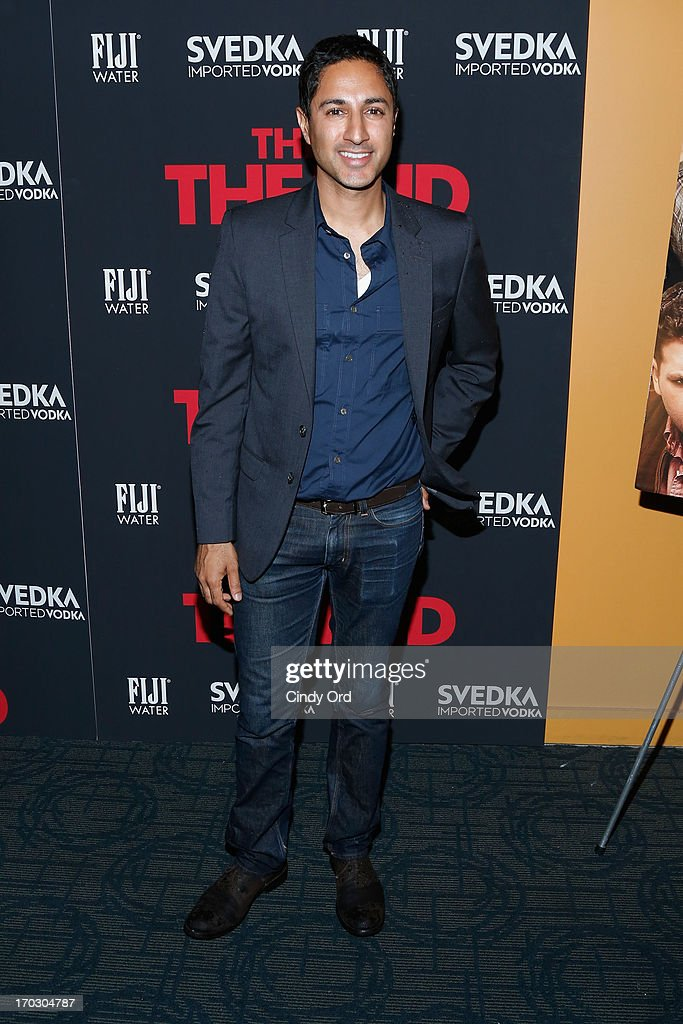 Actor Maulik Pancholy attends 'This Is The End' New York Premiere at Sunshine Landmark on June 10, 2013 in New York City.