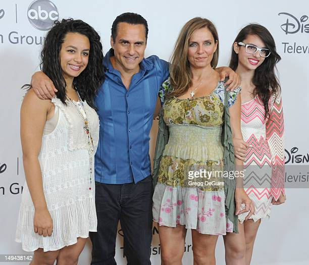 Actor Maurice Benard and family arrive at the 2012 Disney ABC Television TCA summer press tour party at The Beverly Hilton Hotel on July 27 2012 in...