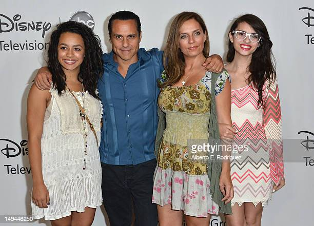 Actor Maurice Benard and family arrive to the Disney ABC Television Group's 2012 'TCA Summer Press Tour' on July 27 2012 in Beverly Hills California