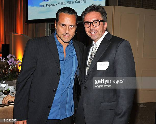 Actor Maurice Benard and Michael Sanford attend the 12th Annual Heller Awards at The Beverly Hilton Hotel on September 19 2013 in Beverly Hills...