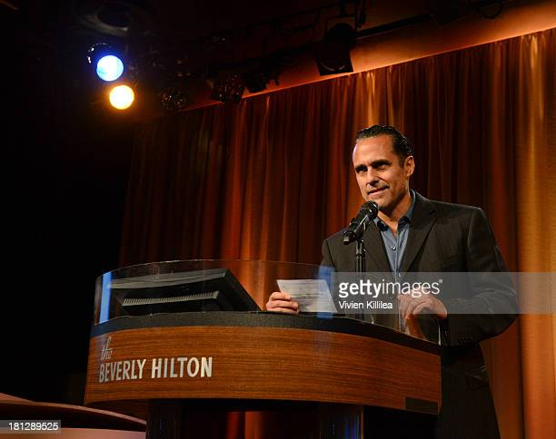 Actor Maurice Benard presents the award for Commercial Casting Director of the Year at the 12th Annual Heller Awards at The Beverly Hilton Hotel on...