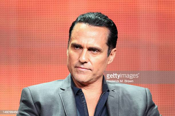 Actor Maurice Benard speaks onstage at the 'General Hospital' panel during day 6 of the Disney ABCTelevision Group portion of the 2012 Summer TCA...