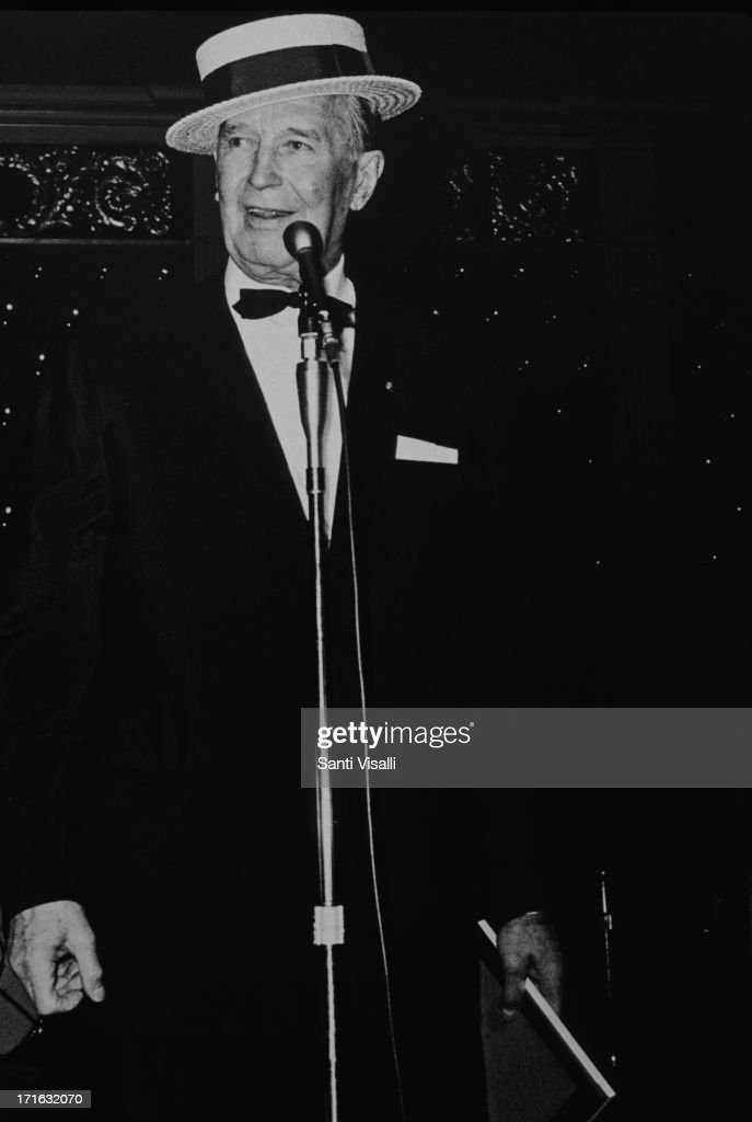 Actor <a gi-track='captionPersonalityLinkClicked' href=/galleries/search?phrase=Maurice+Chevalier&family=editorial&specificpeople=209320 ng-click='$event.stopPropagation()'>Maurice Chevalier</a> singing on December 5,1968 in New York, New York.