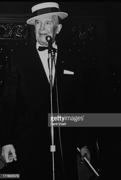 Actor Maurice Chevalier singing on December 51968 in New York New York