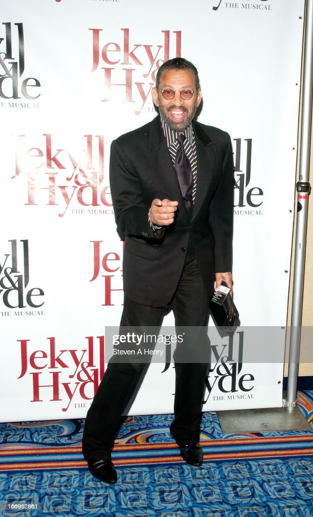 Actor <a gi-track='captionPersonalityLinkClicked' href=/galleries/search?phrase=Maurice+Hines&family=editorial&specificpeople=660400 ng-click='$event.stopPropagation()'>Maurice Hines</a> attends the Broadway opening night of 'Jekyll & Hyde The Musical' at the Marquis Theatre on April 18, 2013 in New York City.